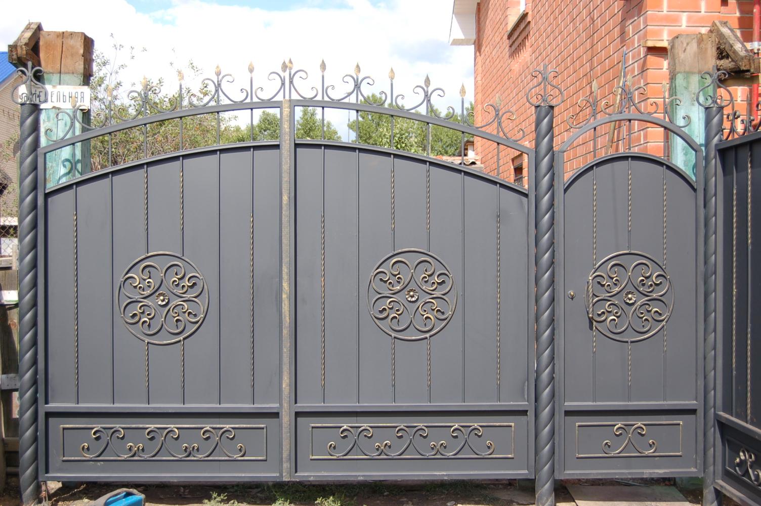 Узоры на воротах своими руками фото